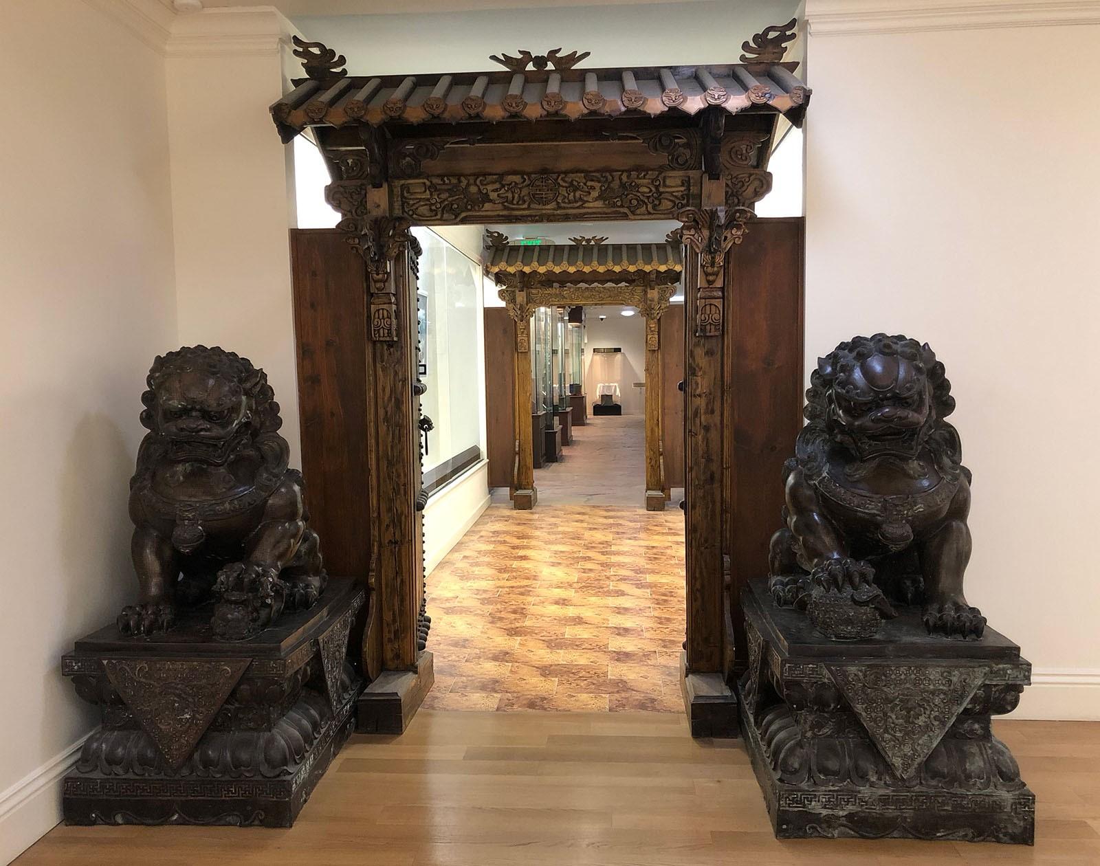 國際藝術館的室內設計有濃厚的東方文化氣息